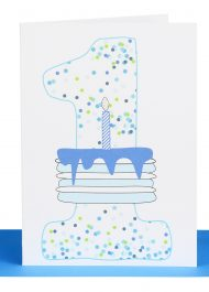 Boys 1st Birthday greeting Card