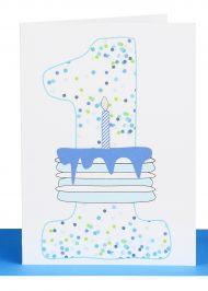 Boys 1st Birthday greeting Card