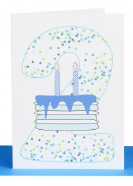 Boys 2nd Birthday greeting Card