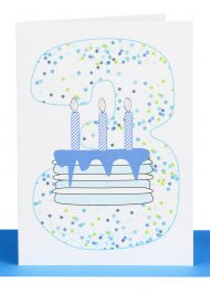 Boys 3rd Birthday greeting Card