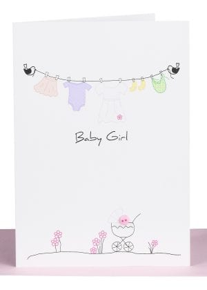 Baby Girl Greeting Card