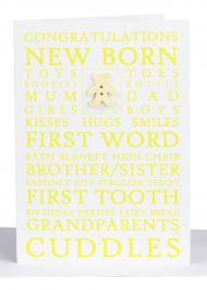 wholesale congratulations baby greeting cards