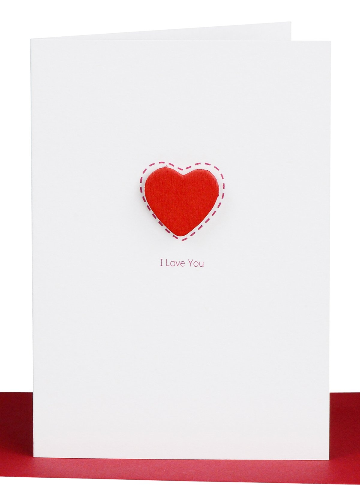 Valentines Day Cards I Love you Red Heart