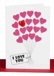Valentines Cards I Love you Heart Balloons