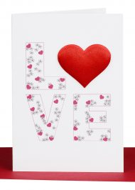 Valentine Cards Red LOVE