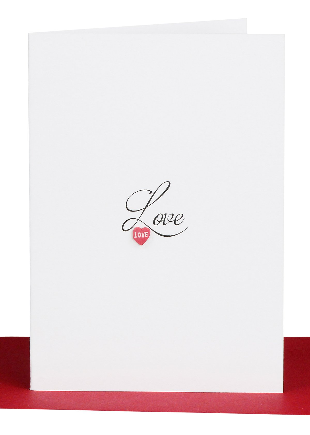 Love Gift Card small love and handmade heart