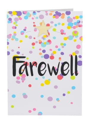 Giant Farewell Card Australian made confetti