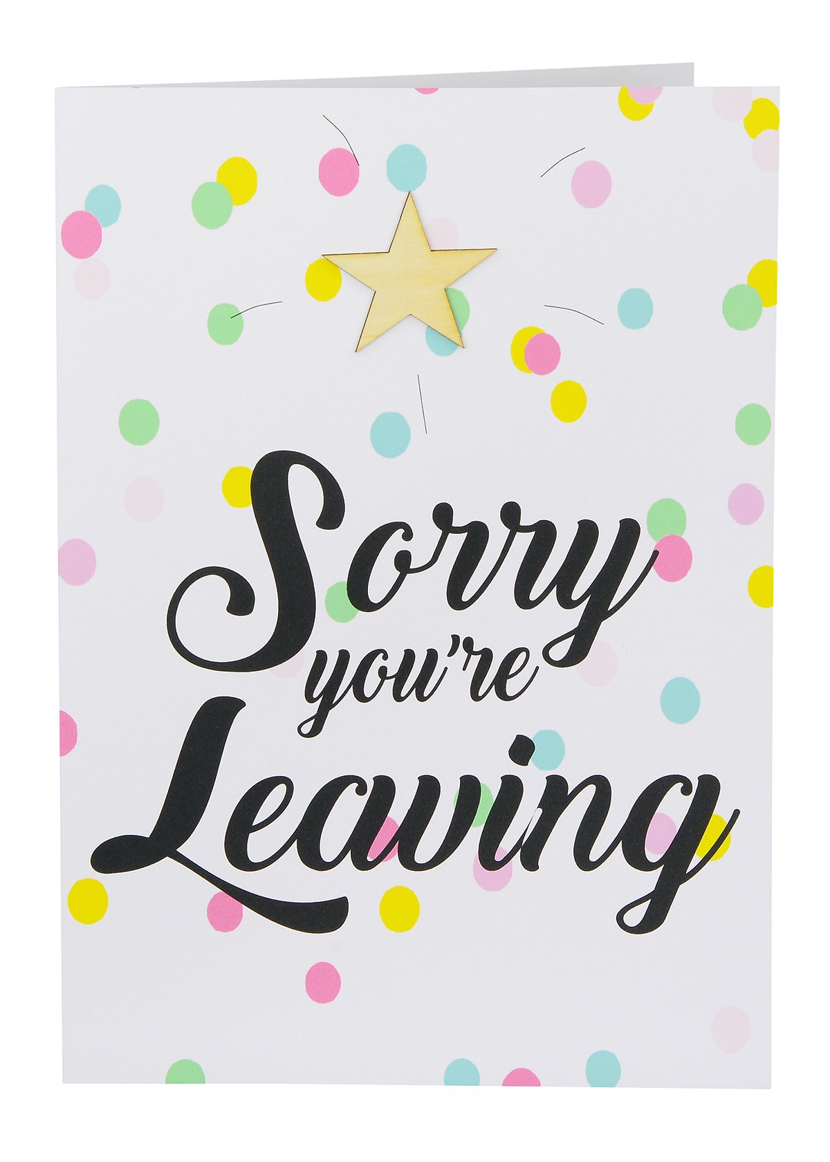 Large Leaving Card sorry you're leaving