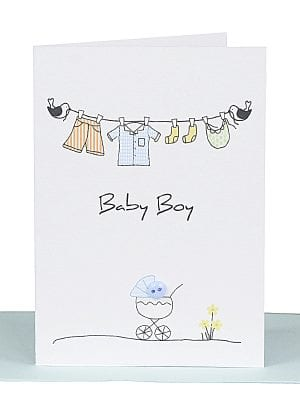 Baby Boy Gift Card wholesale handmade australian made