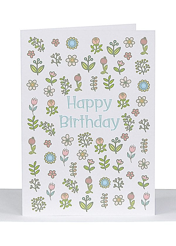 small happy Birthday gift Card