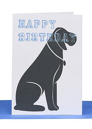 Big Dog Birthday Greeting Card LBB 283