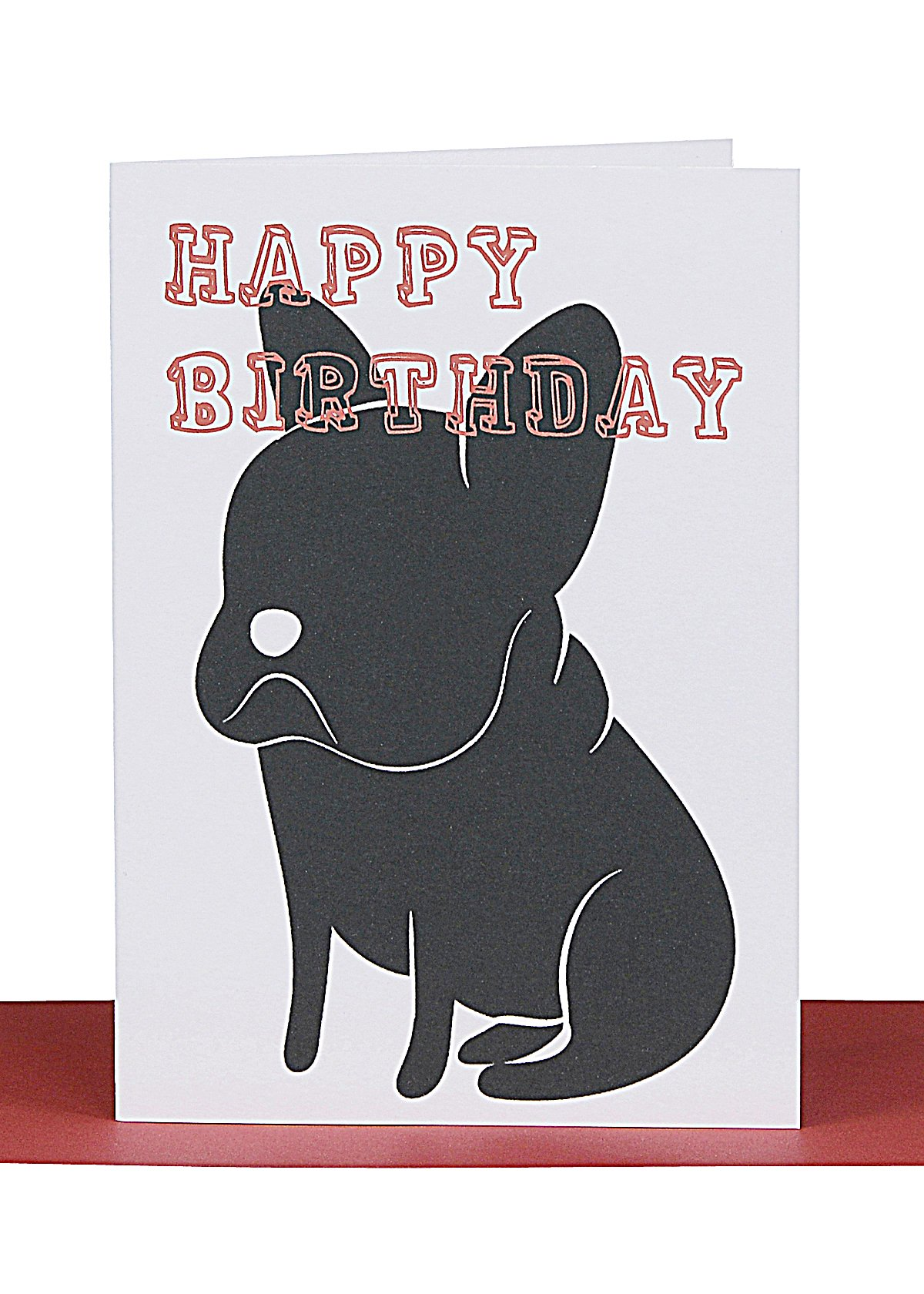 French Bull Dog Small Birthday Gift Card