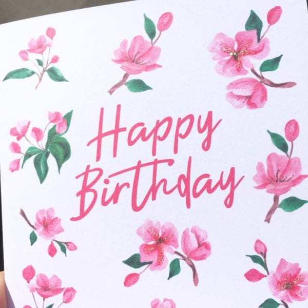 wholesale birthday cards blossoms