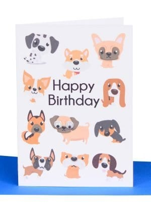 Happy Birthday Small Gift Card Dogs