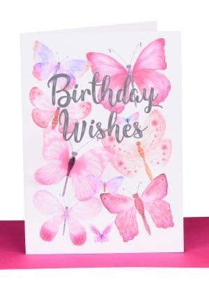 Birthday Gift Card Butterflies