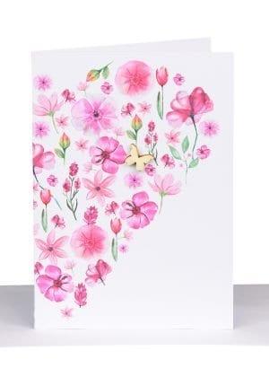 Florist Gift card hot pink