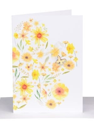 florist gift card yellow