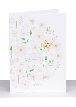 Florist gift card white Australian Made Lils Cards