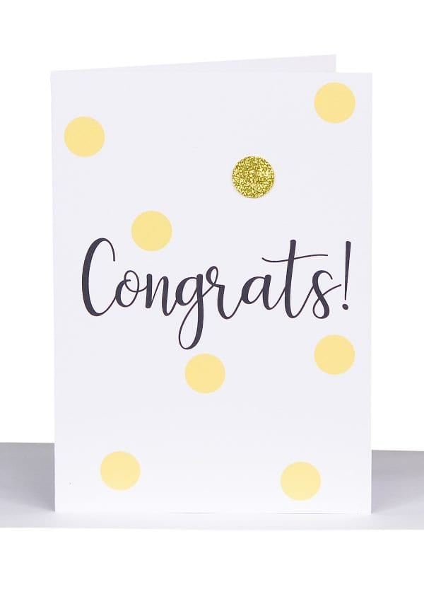 Congrats Small Gift Card Australian Made and designed