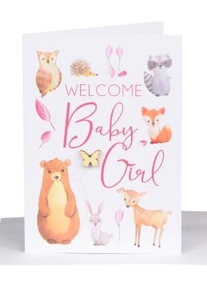 Australian made baby girl gift card