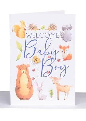 Australian made baby boy card