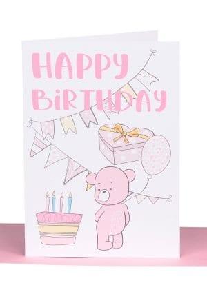 Happy Birthday Pink Bear