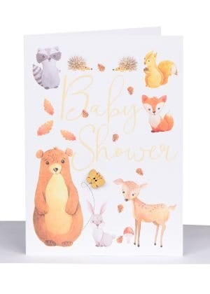 Australian made baby shower greeting card