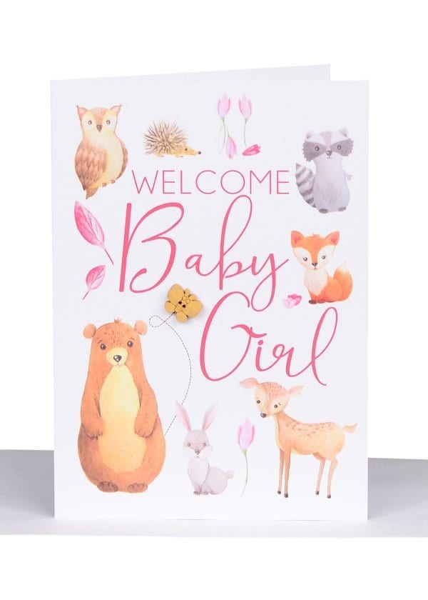Australian made greeting card for a baby girl