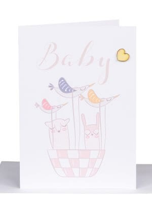 new born Baby Scandi heart