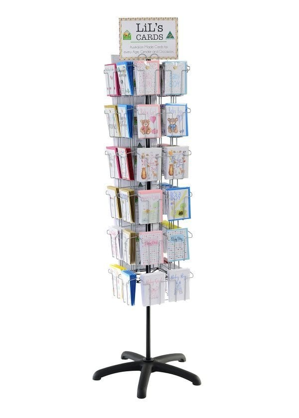 Lils cards australian made floor spinner display stand