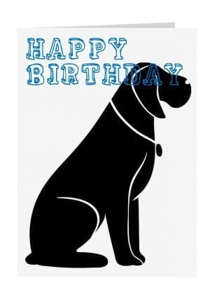 Large birthday card dog