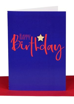 happy birthday greeting card navy
