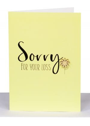 Sorry for your loss Greeting Card