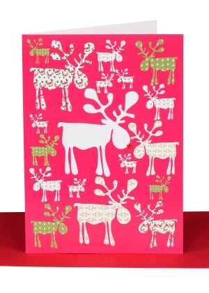 Christmas Reindeers Greeting Card