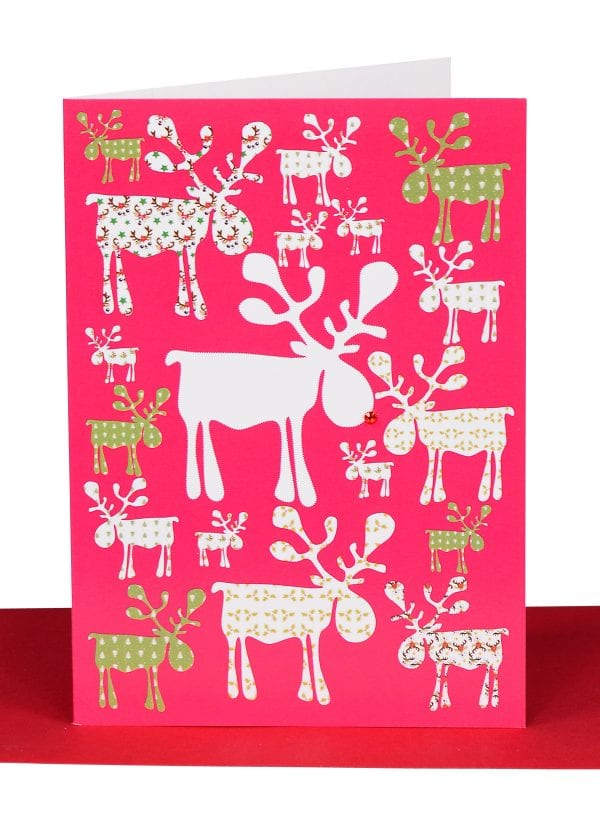 Christmas Reindeers Greeting Card