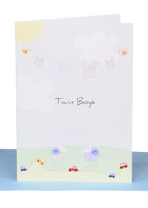 Twin Boys Greeting Card