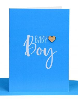 baby boy greeting card blue