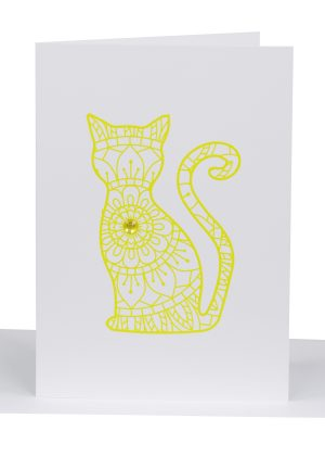 Greeting Card cat - Lil's cards - australian made cards