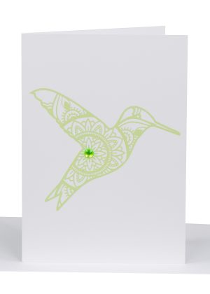 Greeting Card humming bird lils cards cards - australian made