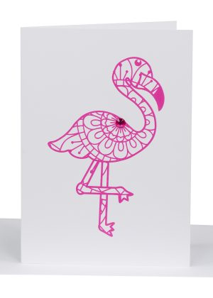greeting card flamingo - Lil's Cards - Australian Made Cards