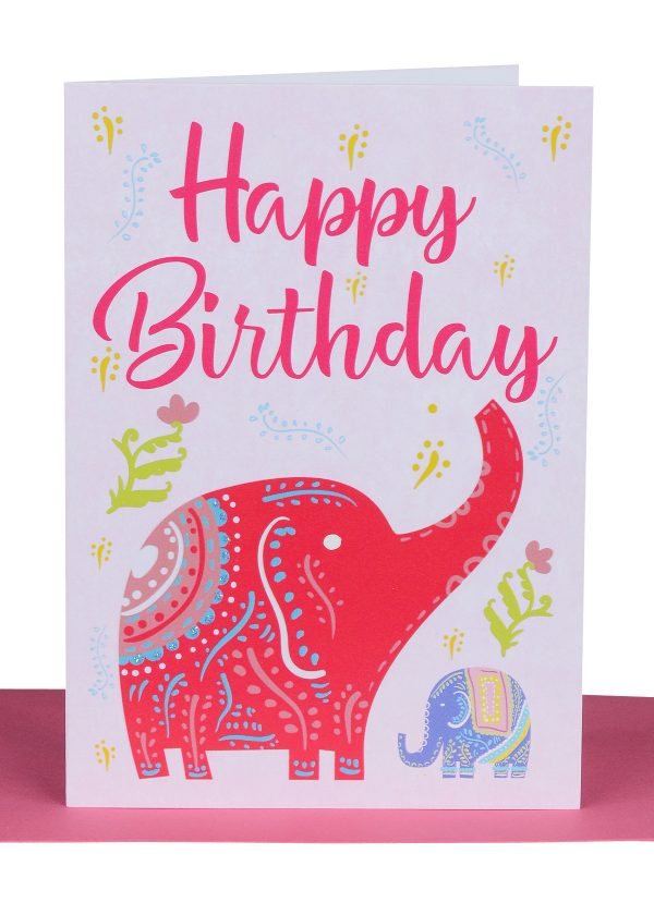 Birthday greeting card elephant