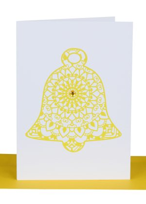 Christmas Greeting Card Golden Bell
