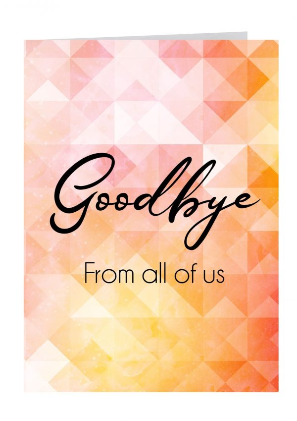 Good bye from all of us large farewell card australian made cards
